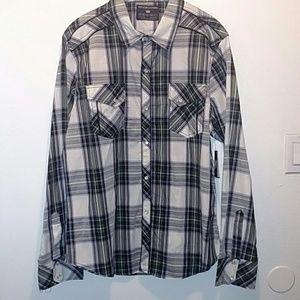 NWT Pop Icon Plaid Pearl Button Shirt